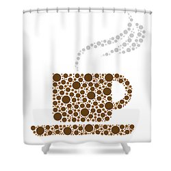 Coffee Cup Shower Curtain by Aged Pixel