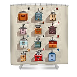 Coffee Grinder Wall Shower Curtain