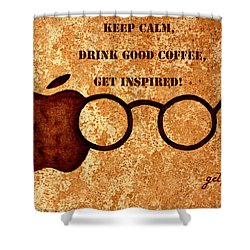 Coffee Lovers Quote 2 Shower Curtain