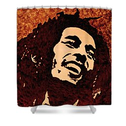 Coffee Painting Bob Marley Shower Curtain
