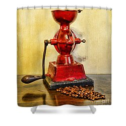 Coffee The Morning Grind Shower Curtain by Paul Ward