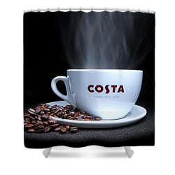 Coffee Time Shower Curtain by Rob Guiver