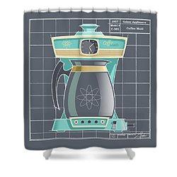 Coffeemaid -aqua Shower Curtain