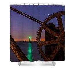 Cogwheel Framing Shower Curtain by Semmick Photo