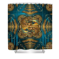 Shower Curtain featuring the digital art Coherence - Abstract Art By Giada Rossi by Giada Rossi