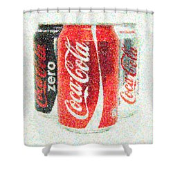 Coka Cola Pointillism Shower Curtain by Antony McAulay