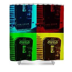 Coke Poster Shower Curtain
