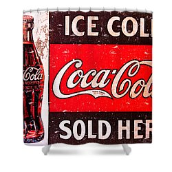 Coke Shower Curtain by Reid Callaway