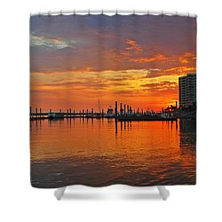 Colbalt Morning Shower Curtain by Michael Thomas