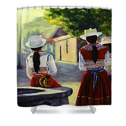Colca Valley Ladies, Peru Impression Shower Curtain