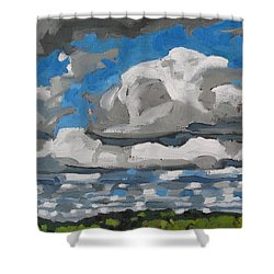 Cold Air Mass Cumulus Shower Curtain by Phil Chadwick