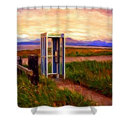 Cold Bay Ferry Service Shower Curtain