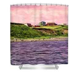 Cold Bay From The Dock Shower Curtain by Michael Pickett
