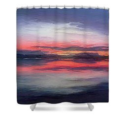 Cold Bay Shower Curtain by Michael Pickett