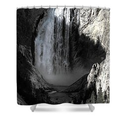 Shower Curtain featuring the photograph Cold Cascade  by David Andersen