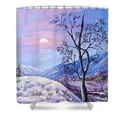 Cold Evening Shower Curtain