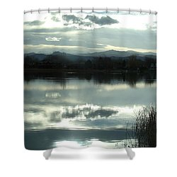 Cold Light Shower Curtain