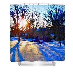 Cold Morning Sun Shower Curtain by Jeff Kolker