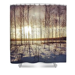 Cold 'n' Golden Shower Curtain