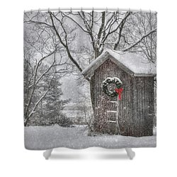Cold Seat Shower Curtain by Lori Deiter