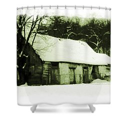 Countryside Winter Scene Shower Curtain