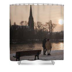 Cold Winter Light Shower Curtain by Joan Carroll