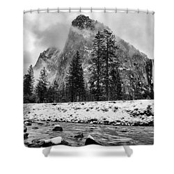 Cold Winter Morning Shower Curtain by Cat Connor