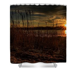 Cold Winter Sunset Shower Curtain