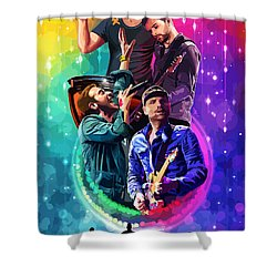 Coldplay Mylo Xyloto Shower Curtain by FHT Designs