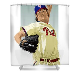 Cole Hamels Shower Curtain