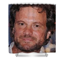 Colin Firth Portrait Shower Curtain
