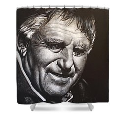 Colin Meads Shower Curtain by Bruce McLachlan
