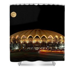 Coliseum Night With Full Moon Shower Curtain