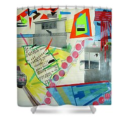 Collage 444 Shower Curtain by Bruce Stanfield