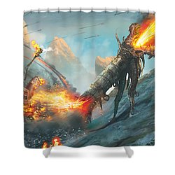 Collateral Damage Shower Curtain