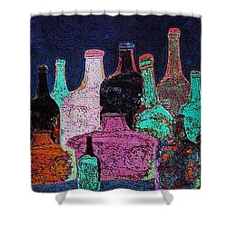 Shower Curtain featuring the digital art Collecting by I'ina Van Lawick