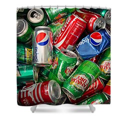 Shower Curtain featuring the photograph Collection Of Cans 02 by Andy Lawless