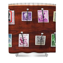 Collector - Stamp Collector - My Stamp Collection Shower Curtain by Mike Savad