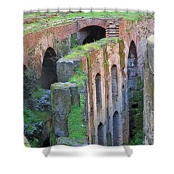 Shower Curtain featuring the photograph Colleseum Levels by Debby Pueschel