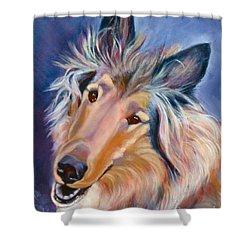 Collie Star Shower Curtain