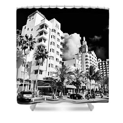 Collins Avenue Shower Curtain by John Rizzuto