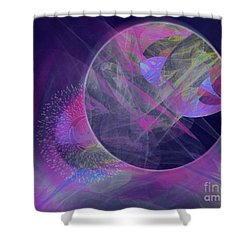 Shower Curtain featuring the digital art Collision by Victoria Harrington