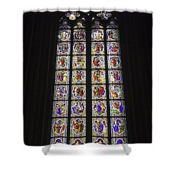 Cologne Cathedral Stained Glass Life Of Christ Shower Curtain