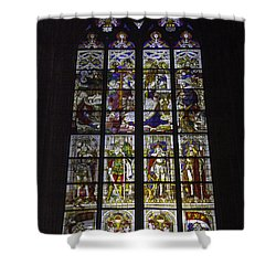 Cologne Cathedral Stained Glass Window Of The Nativity Shower Curtain