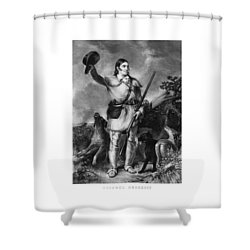 Colonel Davy Crockett Shower Curtain by War Is Hell Store