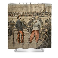 Colonel Henry And Lieutenant-colonel Shower Curtain by Henri Meyer