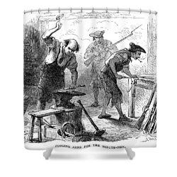 Colonial Blacksmith, 1776 Shower Curtain by Granger