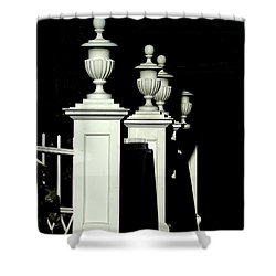 Colonial Fence Shower Curtain