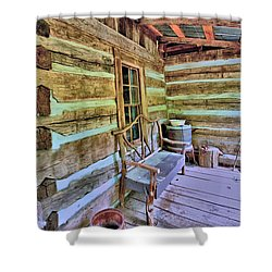 Colonial Front Porch Basics Shower Curtain by Gordon Elwell