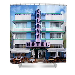 Colony Hotel Daytime Shower Curtain